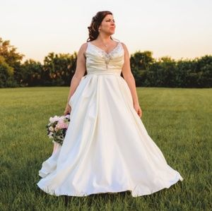 Bling Wedding Dress Ivory